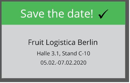Messetermin: Fruit Logistica Berlin 2020