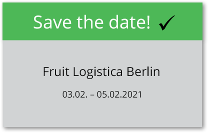 Messetermin: Fruit Logistica Berlin 2020
